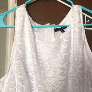NWOT fit and flare white sundress